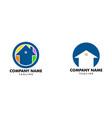 set of house circle logo vector image