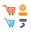 Shopping Cart Basket Web Symbols Icons Set vector image vector image