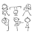 Six different kinds of dance moves vector image