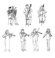 Sketch of musicians orchestra vector image