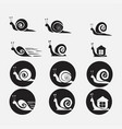 snails icons set vector image
