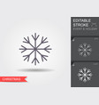 snowflake line icon with editable stroke with vector image
