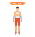 sport and diet poster man vector image vector image