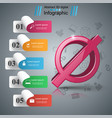 stop no 3d realistic icon business infographic vector image vector image