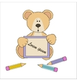 Teddy bear with pencils vector image vector image