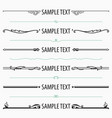 text dividers and separators set 3 vector image vector image