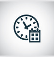 time watch calendar icon for web and ui on white vector image