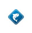 tona blue fish in symbol design tuna marine life