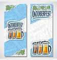 vertical banners for oktoberfest vector image vector image