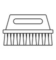 wash brush icon outline style vector image vector image