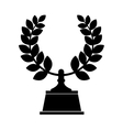 Wreath crown award icon vector image