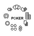 set of casino icons vector image