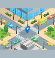 urban traffic template isometric view vector image