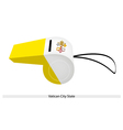 A Beautiful Whistle of Vatican City State vector image