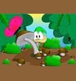 a dwarf in a forest glade vector image