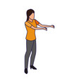 avatar woman with open arms icon vector image vector image