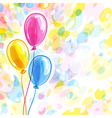 Background with three balloons vector image vector image