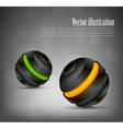 Background with two spheres vector image vector image