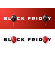 black friday sale banner minimal styles posters vector image vector image