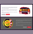 black friday sale promo sticker advertising coupon vector image vector image