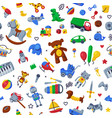 children toys seamless pattern cute colorful vector image vector image