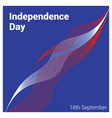 chile independence day card vector image