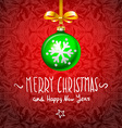 Christmas Card with handmade text ball elements vector image vector image