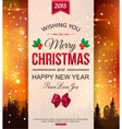 Christmas typographical background with winter vector image