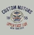 classic motorcycle custom motor garage vector image