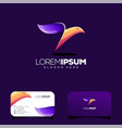 colorful bird logo design vector image vector image