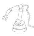 continuous one line drawn robotic arm vector image vector image