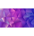 crystal purple triangle trendy low poly backdrop vector image