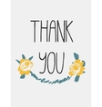 decorative thanks card vector image