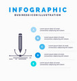 design pen graphic draw infographics template vector image