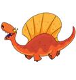 dinosaur dimetrodon vector image vector image