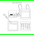 Electrophoresis outline icon vector image vector image