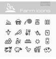Farm icons part 1 vector image