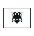 flag albania on white background vector image