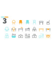 furniture ui pixel perfect well-crafted vector image vector image