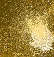 gold paint splash splatter and blob on golden vector image vector image
