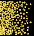 golden confetti isolated on black background vector image vector image