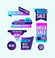 gradient banner sale design template vector image