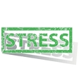 Green outlined STRESS stamp vector image