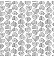 hearts and stripes hand drawn abstract pattern vector image