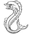 heraldic dolphin No2 vector image vector image