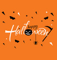horizontal banner for a halloween party on a vector image