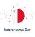 independence day of malta patriotic banner vector image vector image