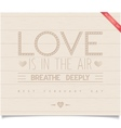 Just Valentines day design on wood plank vector image vector image