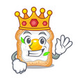 king sandwich with egg isolated in mascot vector image