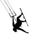 kitesurfing man jump silhouette vector image vector image
